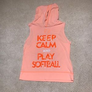 """Justice  """"keep calm and play softball"""" t shirt"""